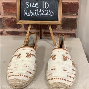 Brand New Tory Burch Espadrille Shoes Size 10